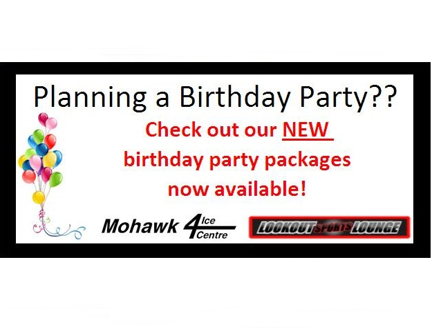 "Looking for options for your child's next <a href=""http://www.mohawk4icecentre.ca/rentals/birthday-parties/"" span style=""color: #235a7f;""><b><u>Birthday Party</u>? </a></span>"
